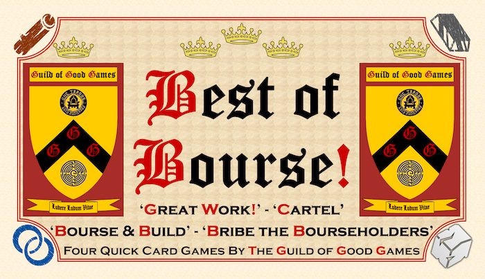 Three fast and fun card games within a game. Created by 'The Guild of Good Games' for the Live Role Playing world of 'Empire'