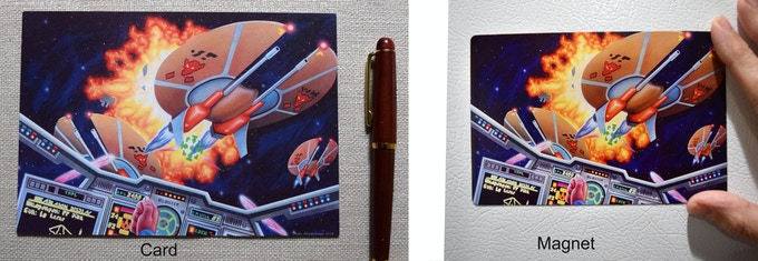 Card and Magnet shown to scale!