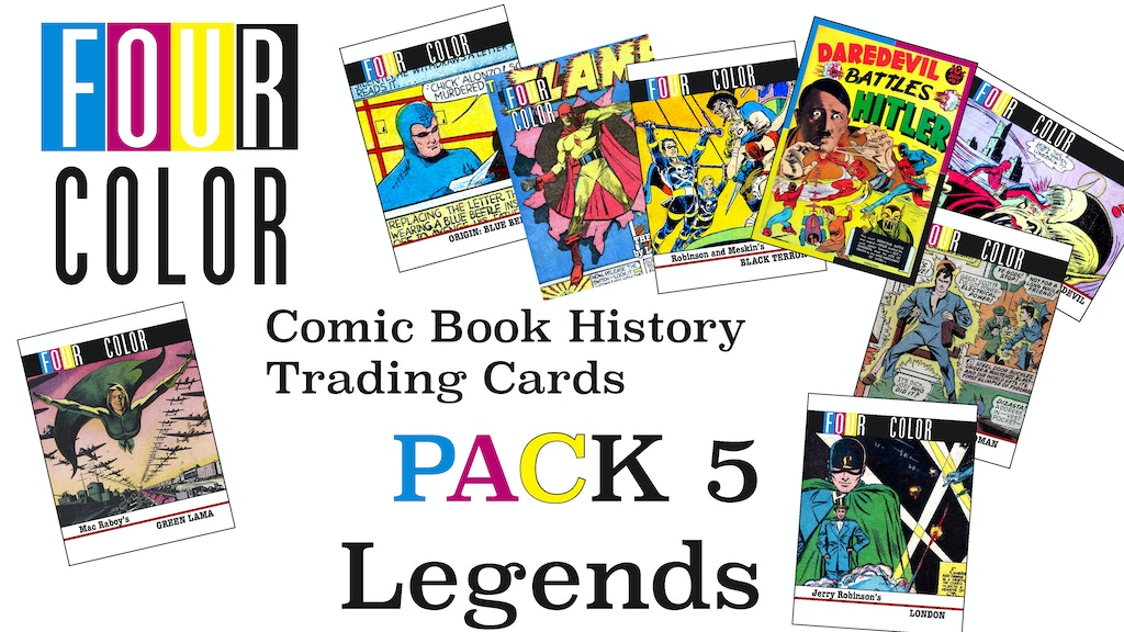 four color comic book history trading cards 5 legends by. Black Bedroom Furniture Sets. Home Design Ideas
