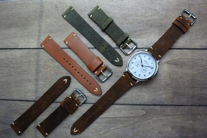 Crazy horse are a soft type of leather strap that ages from use adding character, same as with the canvas. If you'd like a more durable strap, choose the standard leather or get milanese.