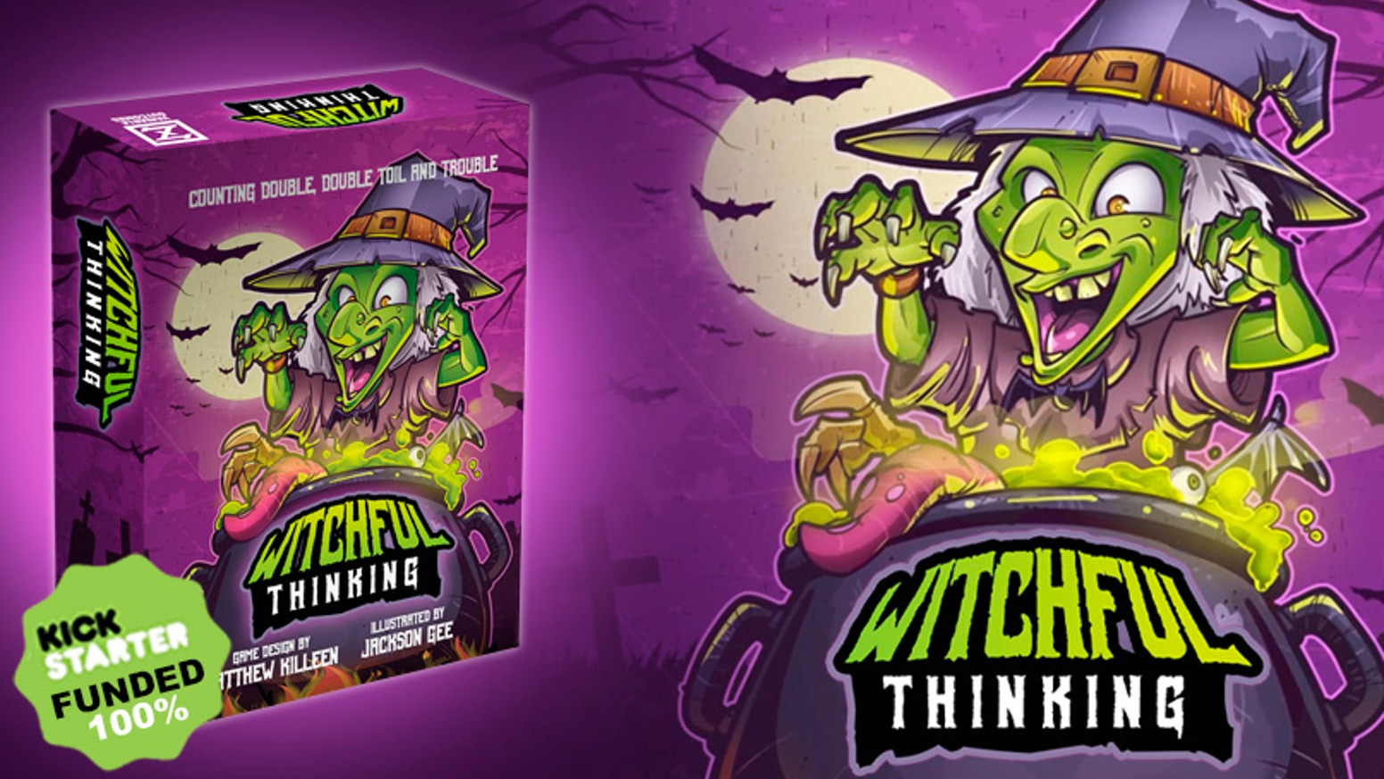 A mathematics-based card game of witches brewing potions by adding the correct combination of ingredients into the cauldron.