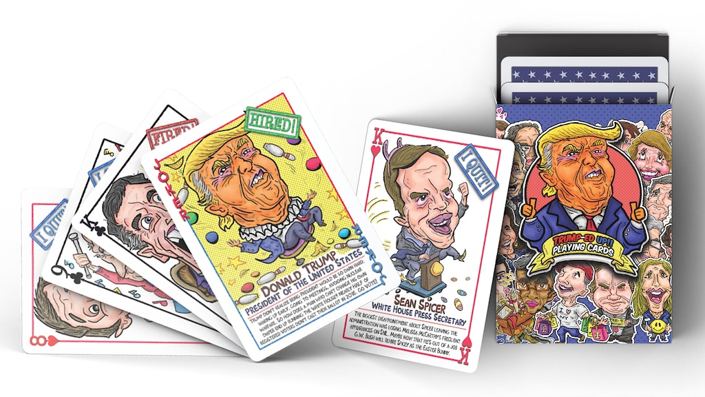 ? Trumped Up Playing Cards ? Make America Play Again!