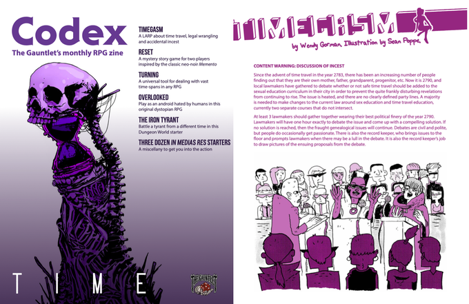 Codex RPG Zine, Volume 1 Hardcover by The Gauntlet Gaming