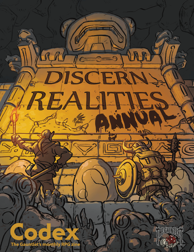 The cover of the Discern Realities Annual, which will be included in the Volume 1 Hardcover Book if we can hit the first stretch goal. Cover art by Nery Mejicano.