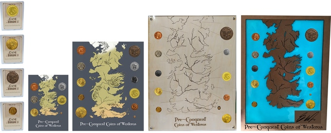 Coins available as singles and in Coin Maps with 4 options