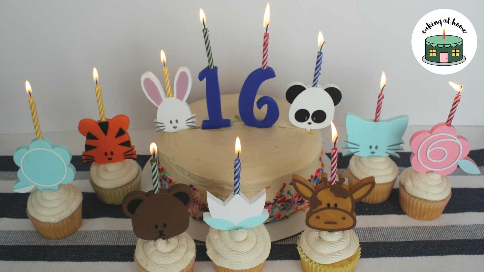 Light Up Your Next Celebration With Candle Holding Cake Toppers Combining Something You Love