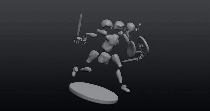 Figure template parts