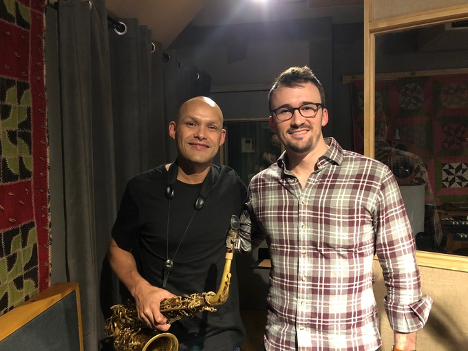 After recording with Miguel Zenón