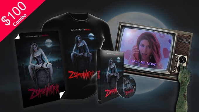 ZOMBINATRIX POSTER, T-SHIRT, DVD + PERSONALIZED MESSAGE
