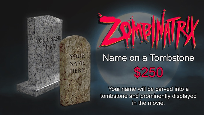 YOUR NAME FEATURED ON A CARVED TOMBSTONE