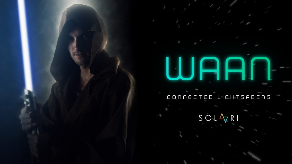 WAAN: the 1st fully connected lightsaber, larger than life! project video thumbnail