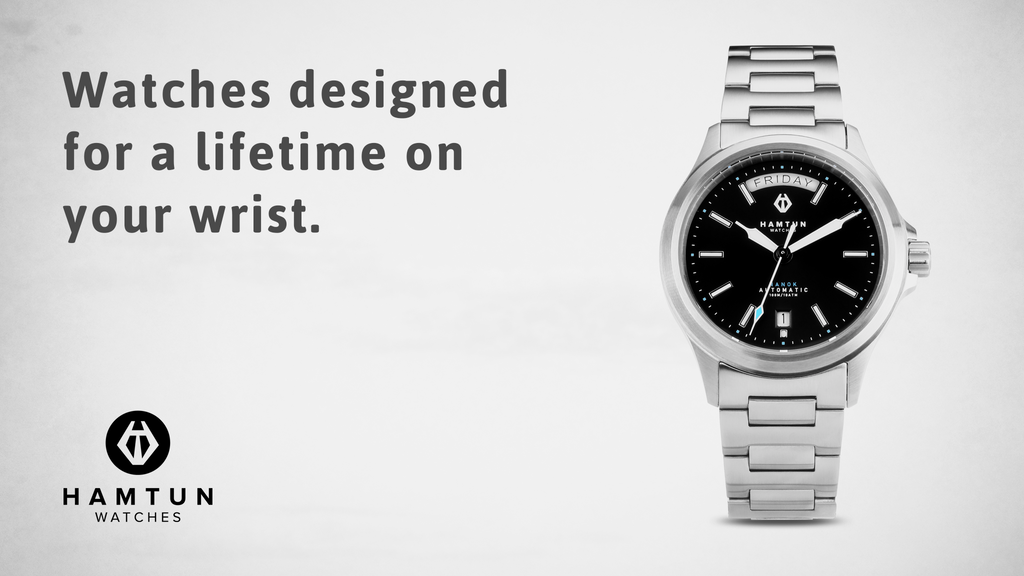 A watch designed to last a lifetime. Nanok by Hamtun Watches project video thumbnail