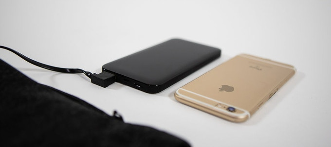 Battery is light and the size of an iPhone 6.