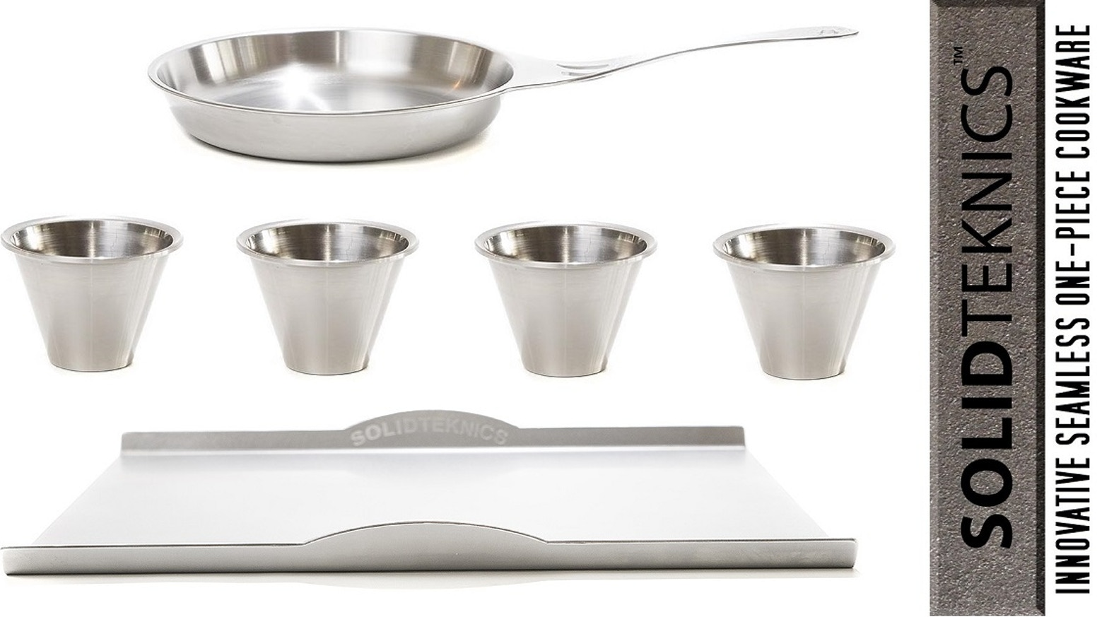 Chef-acclaimed. Healthy non-Nickel stainless, wrought in 1 SOLID 3mm piece. Patented. Multi-generation durable. Heirloom date stamped<3
