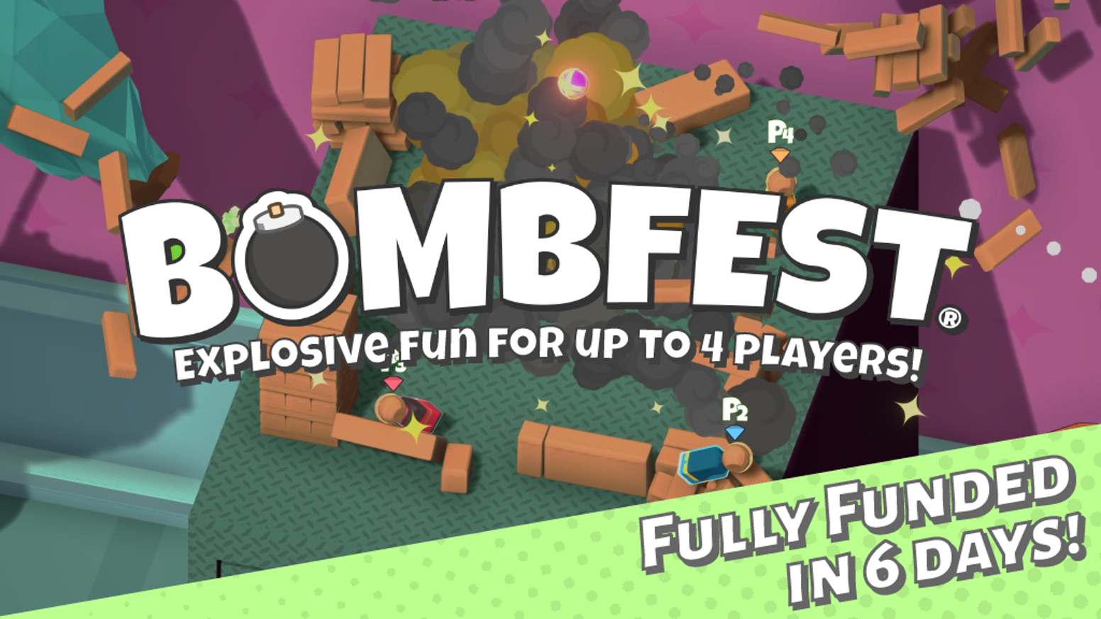An award-winning, physics-based party game where players battle with bombs to be the last toy standing!