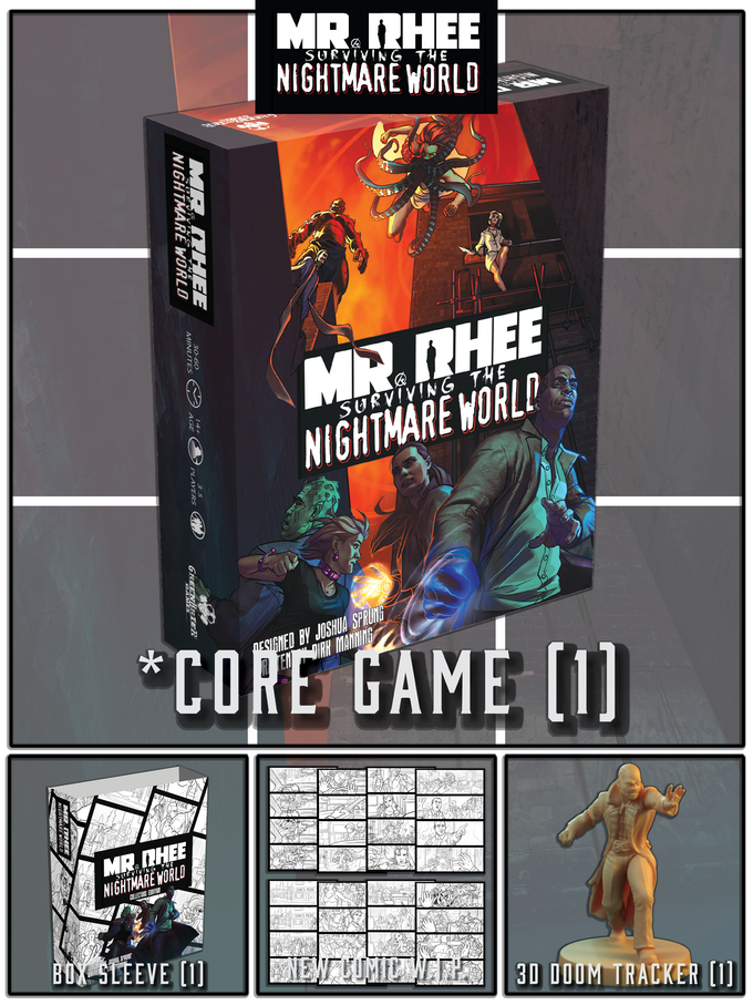WIP- Not shown any added CORE AND COLLECTOR stretch goals. See above for what's in the CORE game.