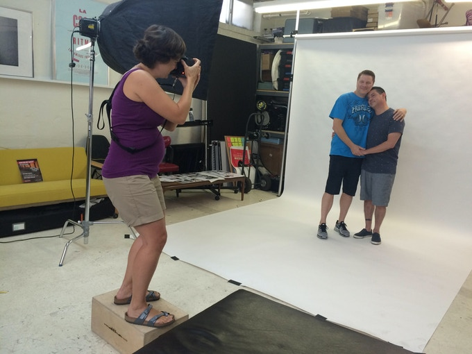 Let Love Reign photo shoot behind-the-scenes in my former studio in Long Island City, New York, Summer 2015.