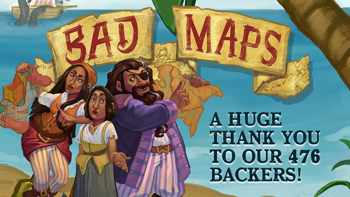 A game of pirate programming & mixed-up maps for 3-5 crafty captains. Can you turn Bad Maps into Good Fortune?