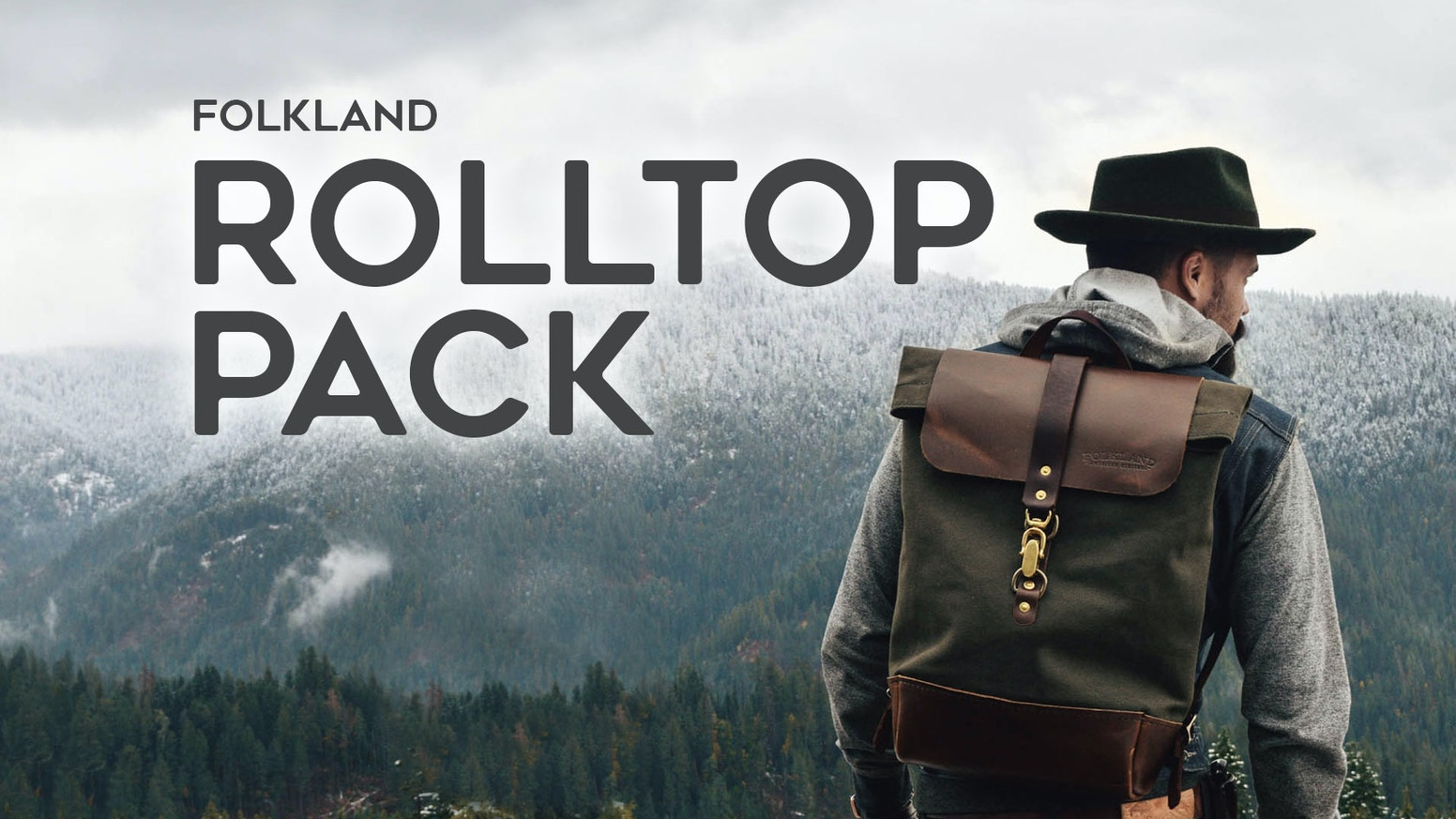 The Folkland Rolltop Backpack is simple in form & function, and built in the PNW USA with classic & durable canvas and leather.