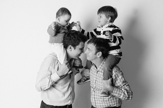 Let Love Reign - Georges, David & family, photographed in my former studio in Long Island City, New York, 2013.