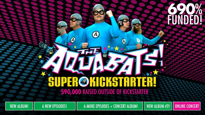 Thanks to you, The Aquabats will be back in 2019 to make TWO BRAND NEW ALBUMS, a new 12-EPISODE WEBSERIES, and to make the world super rad... for the kids!