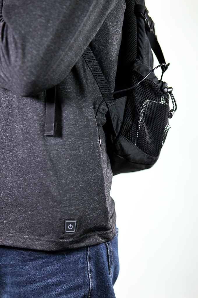 Larger battery packs can be used and held in a backpack.