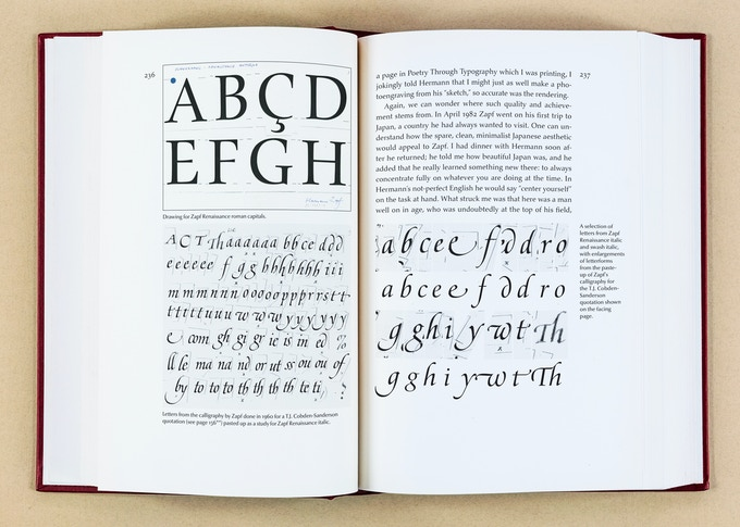 Drawings used for Zapf Renaissance