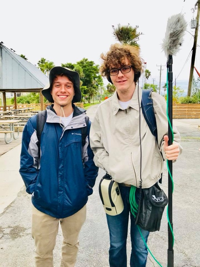 Jimmy and Jack on a rainy day at Everglades Holiday Park