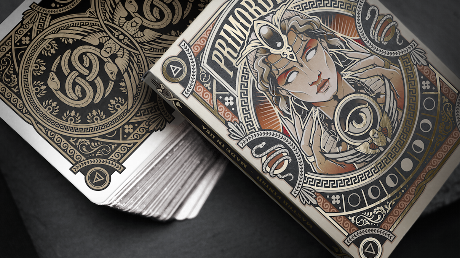 A limited edition playing card series based on the primordial deities from Greek Mythology.