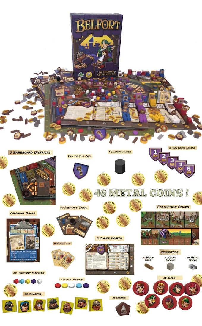 Belfort Base Game Components
