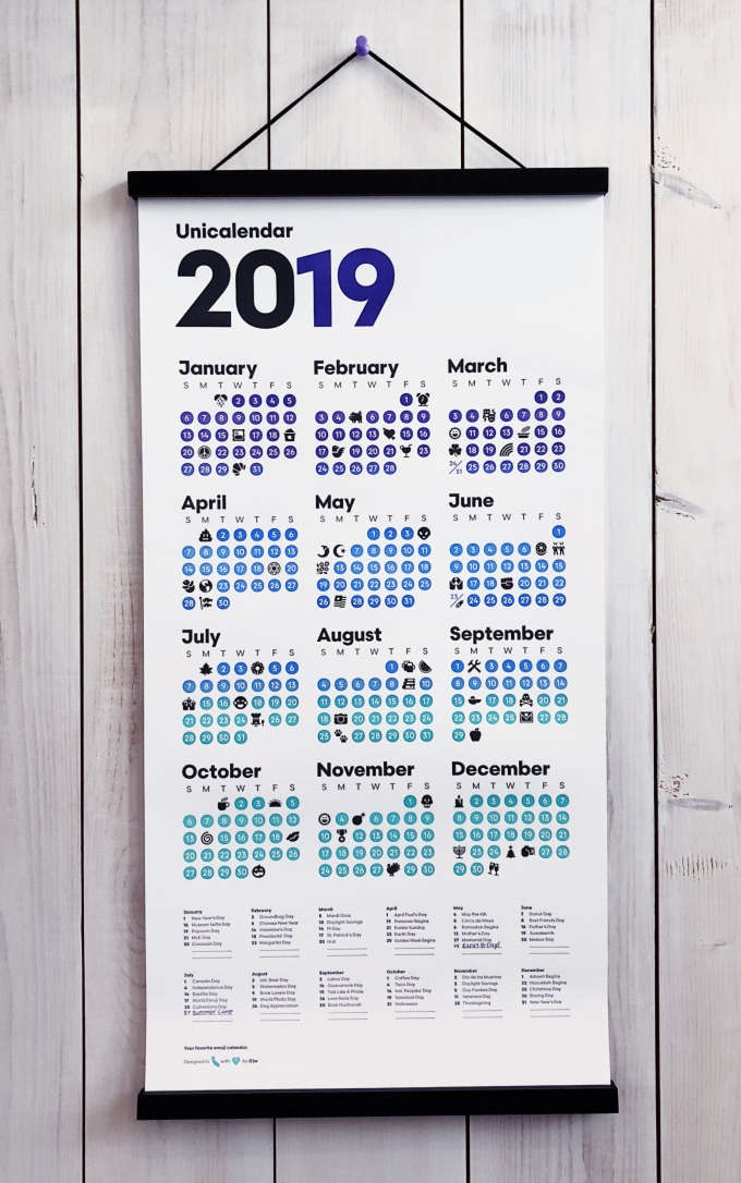 Not some hokey mall calendar, this is an artifact you can hang with a smile in your fancy kitchen… next to those succulents you're overwatering and that designer cocktail recipe book you backed on Kickstarter last year. I see you nodding your head. Clickity-click, yo 👉