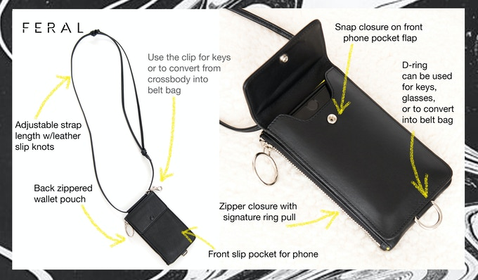 No. 4 Handsfree Phone Sling Features