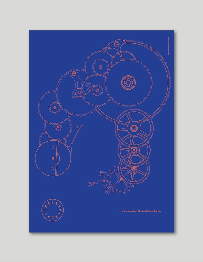 "F.P. Journe #1: A2 size (16.5"" x 23"") premium quality poster print featuring master watchmaker François-Paul Journe's detail diagram of his Grande-Sonnerie movement."