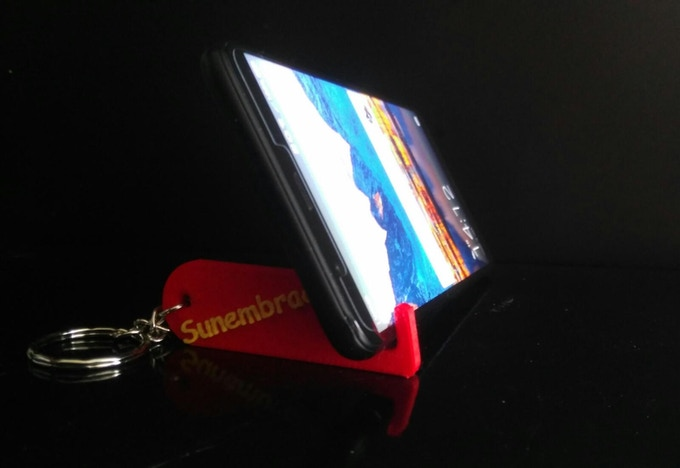 Key fob and phone holder