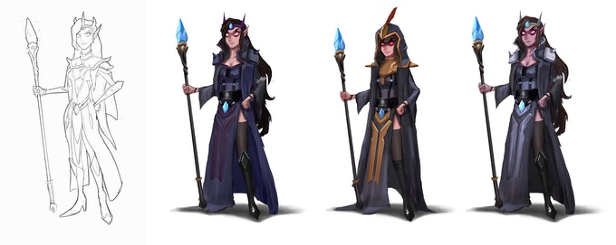 Concept Sketches of Madame Violet