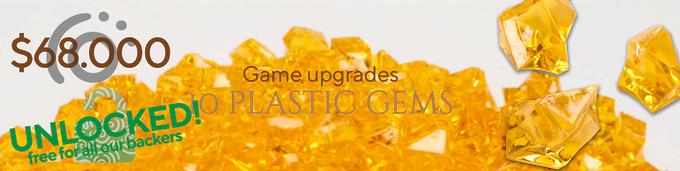 10 plastic gems