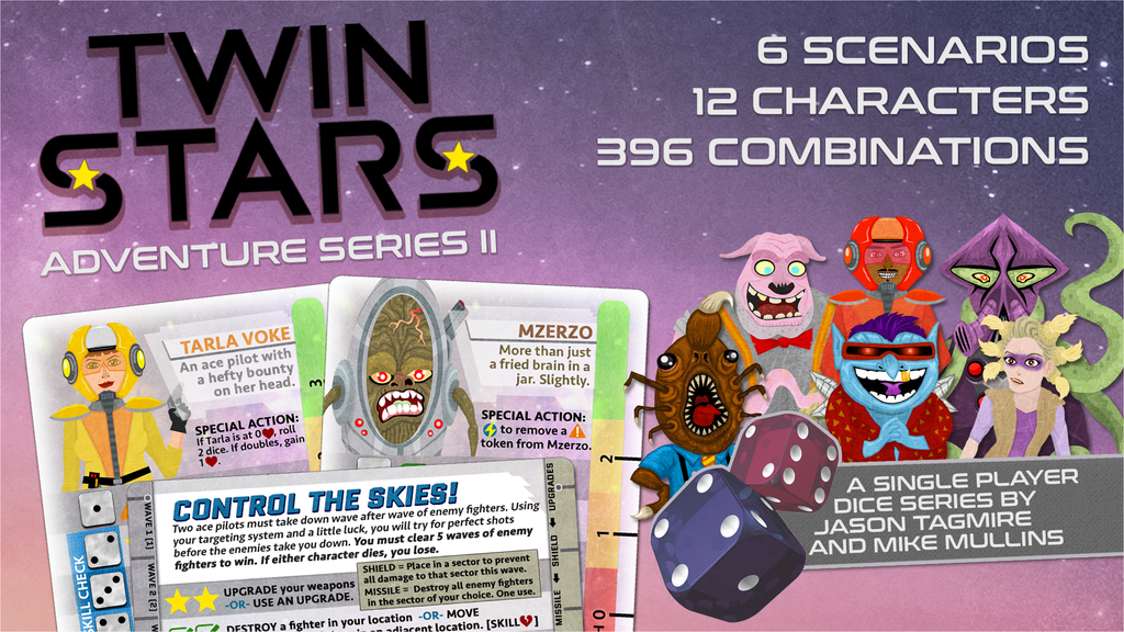 Twin Stars: Adventure Series II - A solo game system project video thumbnail
