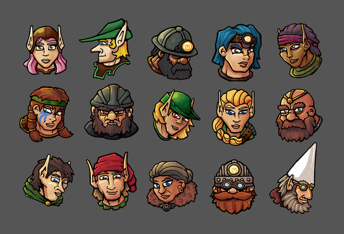 Brand new worker art for all of the player pieces!