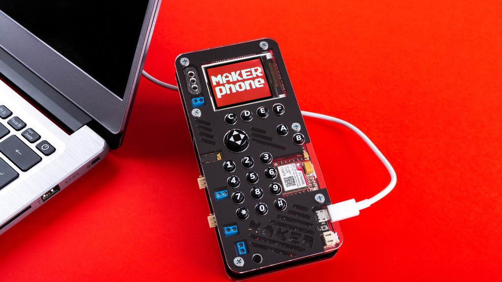 MAKERphone - an educational DIY mobile phone project video thumbnail