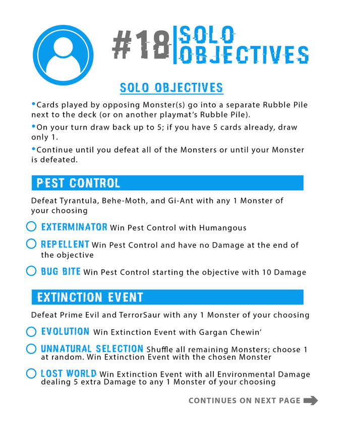 Fun Solo Objectives!