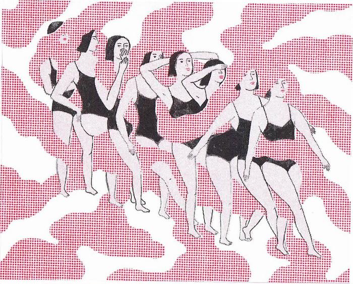 Una risografía por Rachel Levit