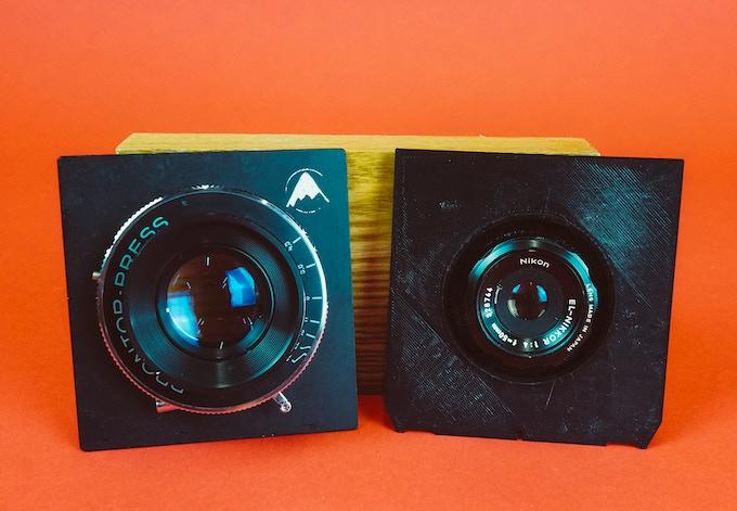 Large Format Lens (Left) Traditional Enlarger Lens (Right)