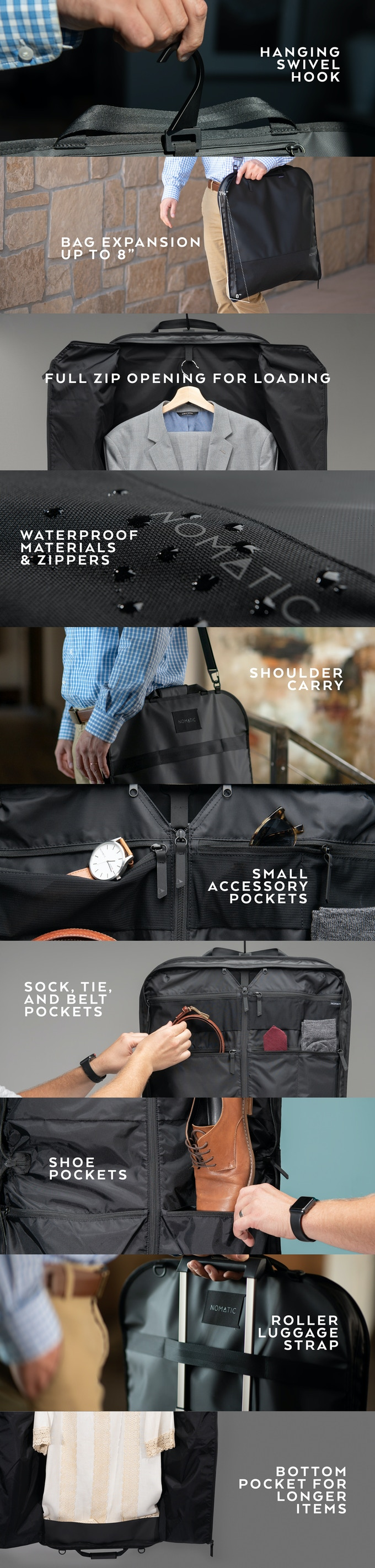 The NOMATIC GARMENT & TOILETRY BAGS by NOMATIC — Kickstarter