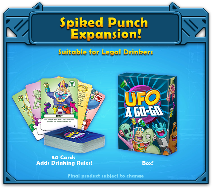 The Spiked Punch expansion can be played with or without alcohol. Akupara Games reminds hosts to party responsibly, safely, and consensually. Disclaimer: Akupara Games and its representatives bear no responsibility and are not liable for special or consequential damages resulting from the use, misuse, inability to use, or interpretation of the contents of this product regardless of whether Akupara Games has been advised of the possibility of such damages.