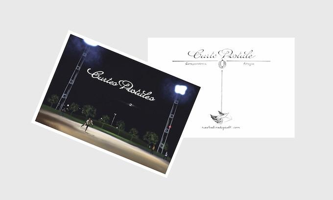 Potential postcard cover of pack + back of postcard (don't worry, there is no text on the front of the postcards) Possibilité de couverture des cartes postales (recto-verso) mais ne vous inquiétez pas, il n'y a pas de texte sur les cartes postales.