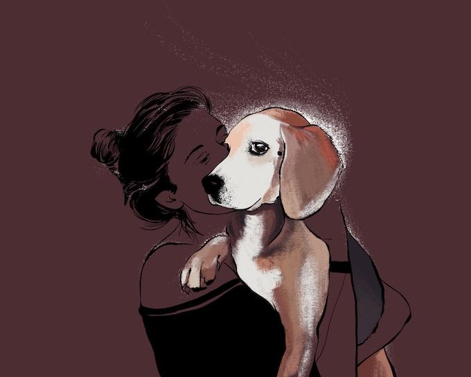 Jes & Rosie - pet portraits
