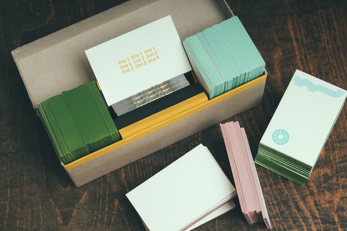 SUPER HIGH END  LINOTYPE COMPANY BUSINESS CARD SET