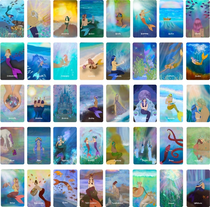 All 40 Oceanic Wild Oracle Cards