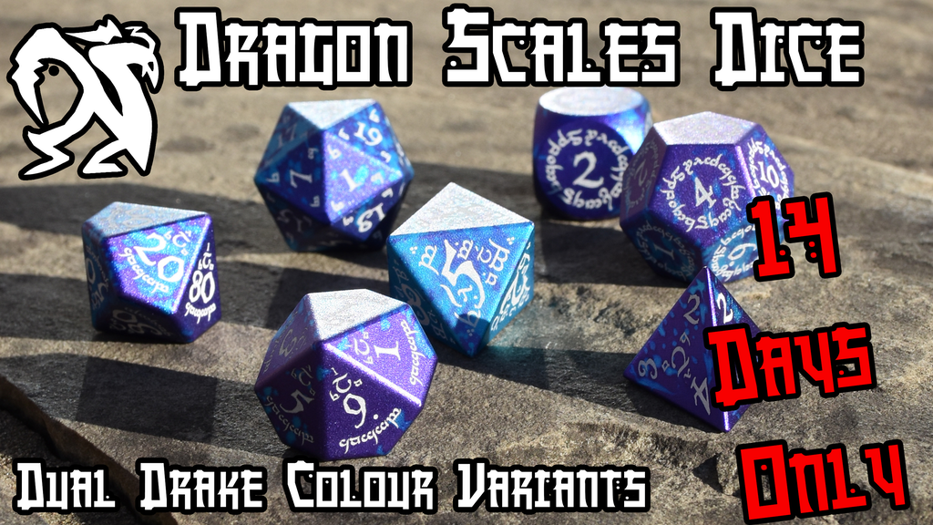 Dragon Scales - Dual Drake Metal Gaming Dice - 14 Days Only project video thumbnail