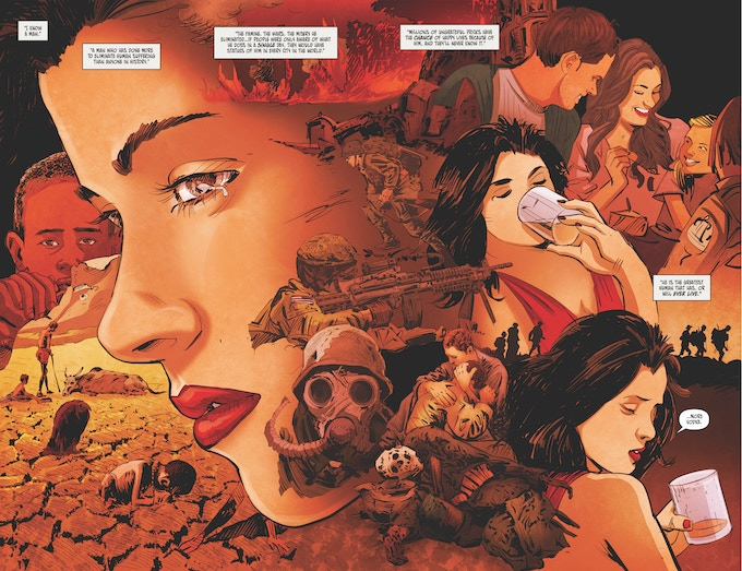 Double-page spread from 'A night Lionel Could Not Forget': Written by Neil Gibson, illustrated by Atula Siriwardane, with colours by Liezl Buenaventura